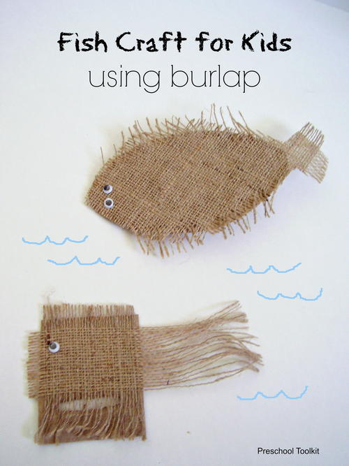 Burlap Fish Craft for Kids