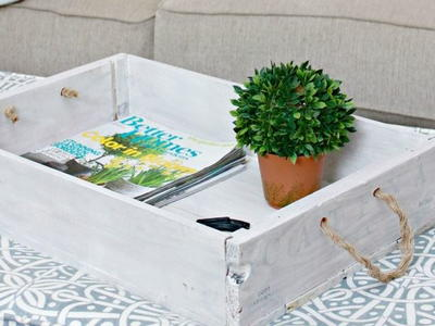 Repurposed Wine Crate DIY Serving Tray