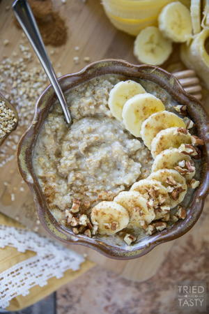 Banana Cream Pie Oatmeal