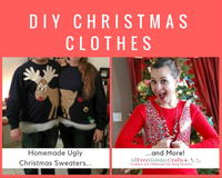 DIY Christmas Clothes: 16 Homemade Ugly Christmas Sweaters and More