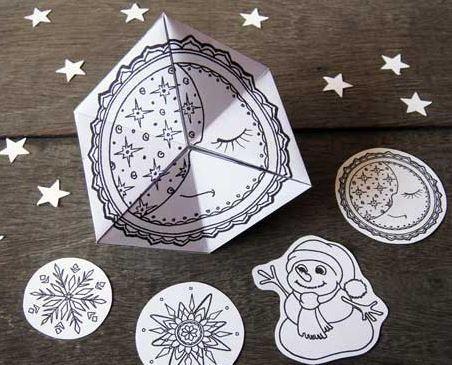 Free Printable Flextangle Toy Allfreechristmascrafts Com
