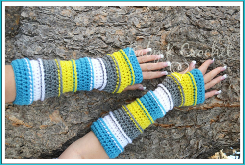 Colors of the Rainbow Arm Warmers