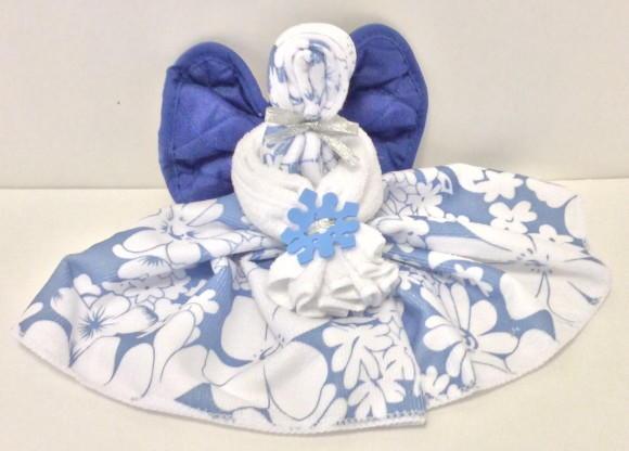 DIY Christmas Angel Towel Gift Idea