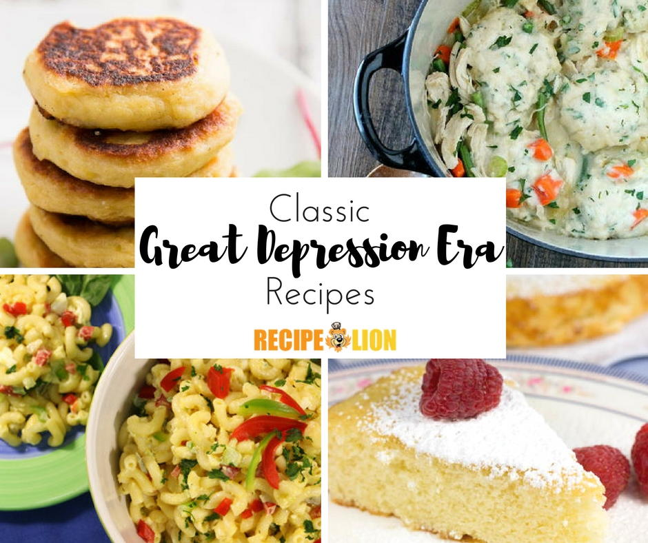 24 classic great depression era recipes for Cuisine 1930