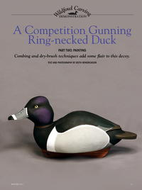 A Competition Gunning Ring-necked Duck Part Two: Painting
