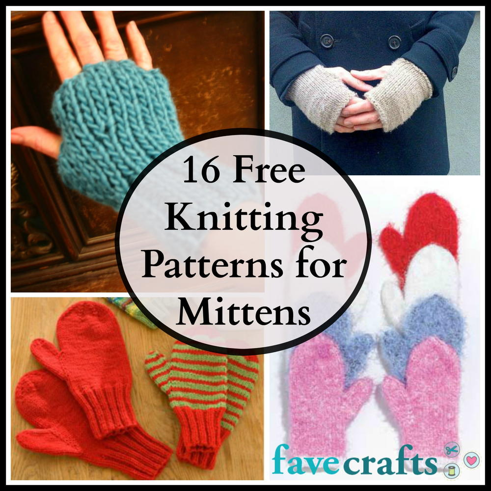 Sirdar Snuggly Knitting Patterns : 16 Free Knitting Patterns for Mittens FaveCrafts.com