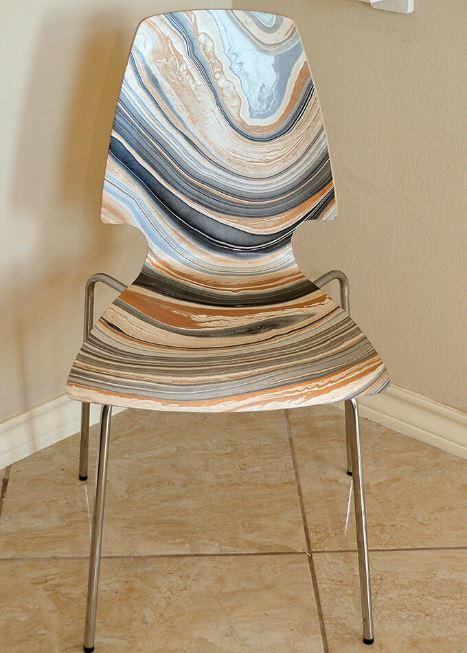 Stunning Marbled Ikea Chair Hack
