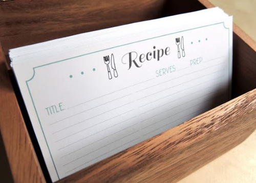 Free Printable Recipe Card Template | Diyideacenter.Com
