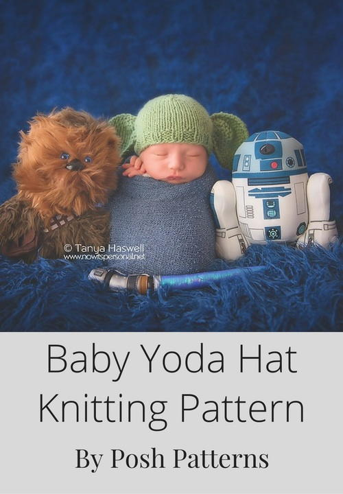 Knitting Pattern For Baby Yoda Hat : Knit Yoda Hat AllFreeKnitting.com