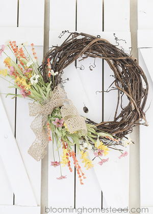 Easy Breezy DIY Spring Wreath