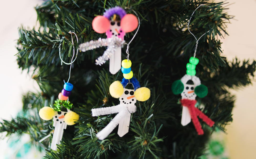 Snowman Key DIY Ornament AllFreeChristmasCrafts