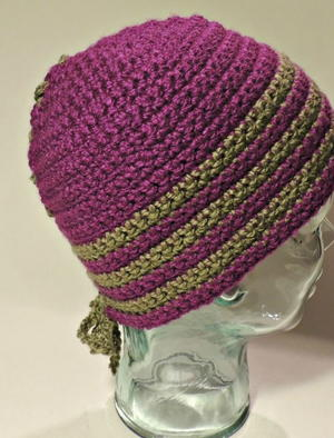 Laced Striped Hat
