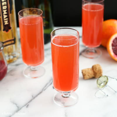 Blood Orange Mimosas with St Germain