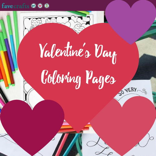 17 valentines day coloring pages