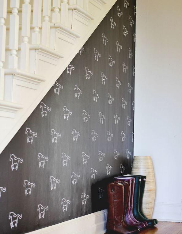 Diy Stencil Painted Wall Pattern Diyideacenter Com