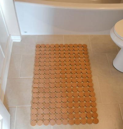 Easy DIY Cork Bath Mat