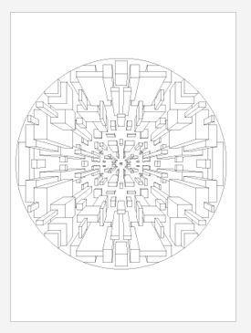 3D Square Mandala Coloring Page | FaveCrafts.com