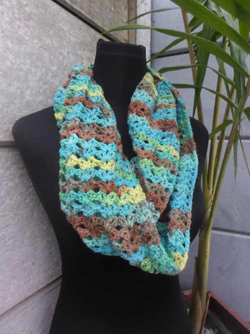 Lacy Starry Eye Infinity Scarf