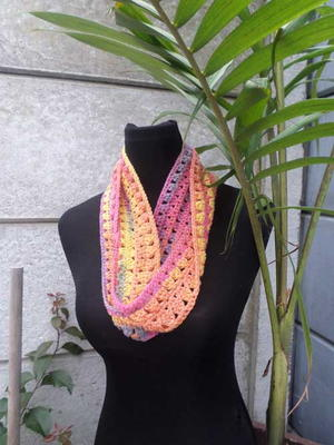 Rainbow Diamonds Infinity Scarf
