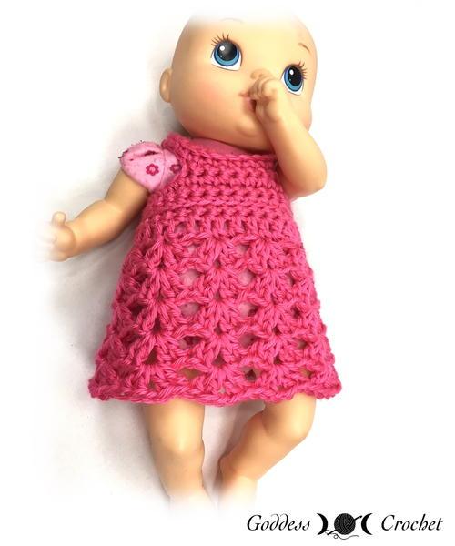 Baby Doll Dress Allfreecrochetcom
