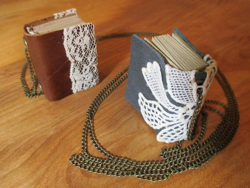 Miniature Book Pendand Necklace