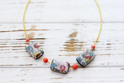Floral Bead DIY Necklace