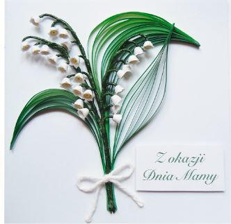 Lilies of the Valley Mothers Day Card
