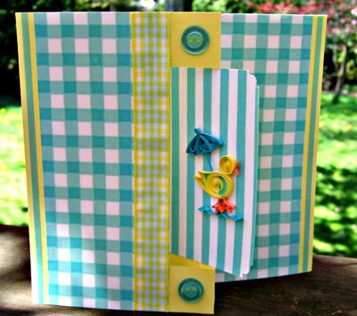 Quilled Duck Swing Baby Card Idea