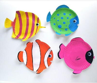 Tropical Fish Paper Plate Craft