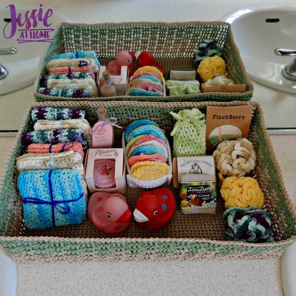 Crochet Spa Basket