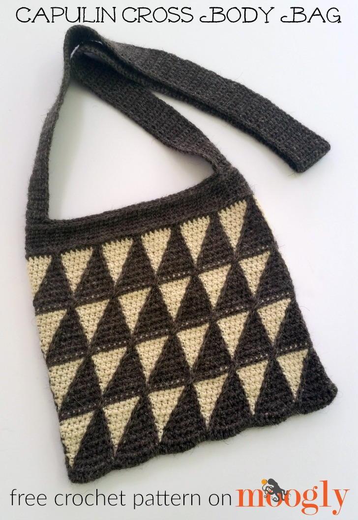 Easy Crochet Crossbody Bag Pattern : Capulin Cross Body Bag AllFreeCrochet.com