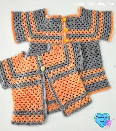 One Piece Wonder Baby Sweater Cardigan Allfreecrochet Com
