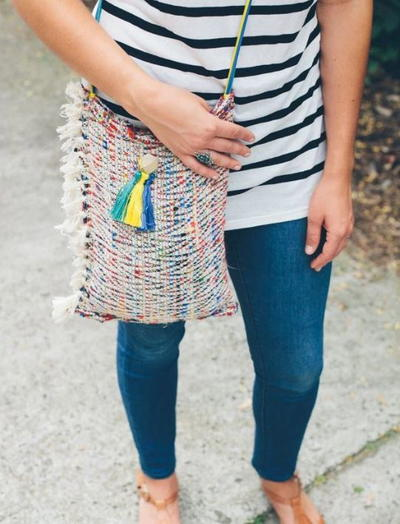 Upcycled Boho Chic DIY Tote Bag