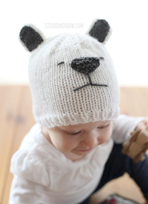 Little Polar Bear Knit Hat