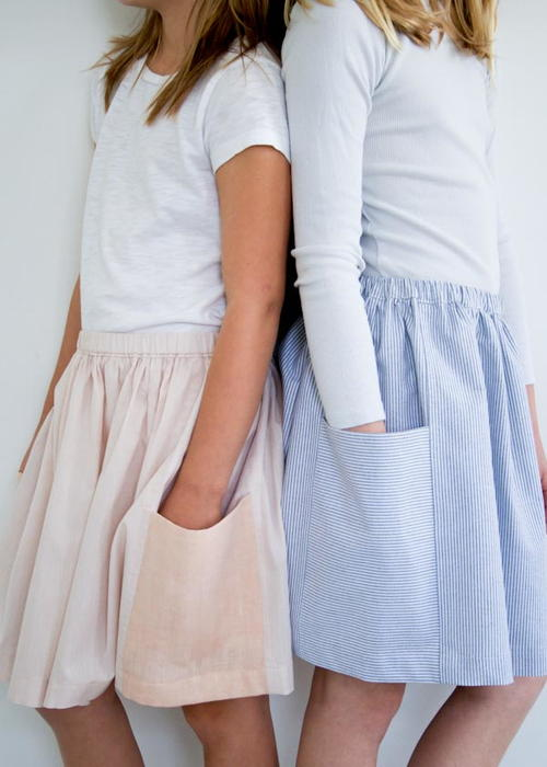 Simple Gathered Skirt Tutorial