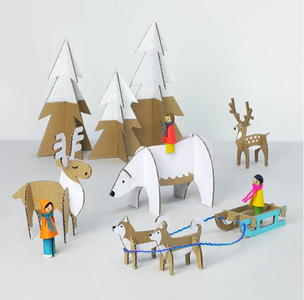Yuletide Friends Cardboard Toys