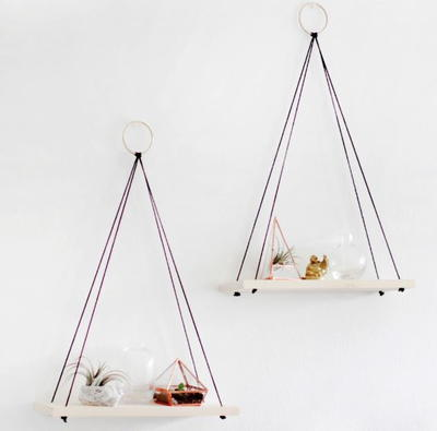 Simply Chic Hanging Homemade Shelves