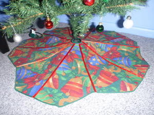 Picture Tutorial: DIY Repurposed Christmas Tree Skirt