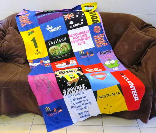 Super Simple T-shirt Quilt