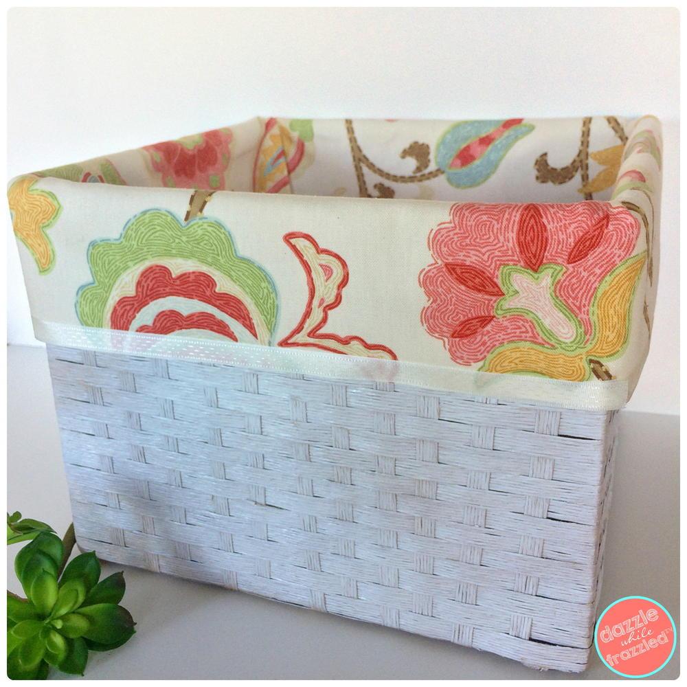 how to make no sew basket liners diyideacenter