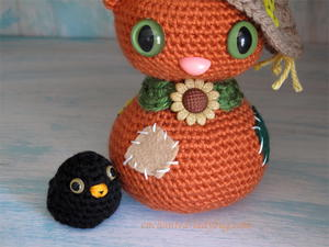 Amigurumi Scarecrow Cat and Crow