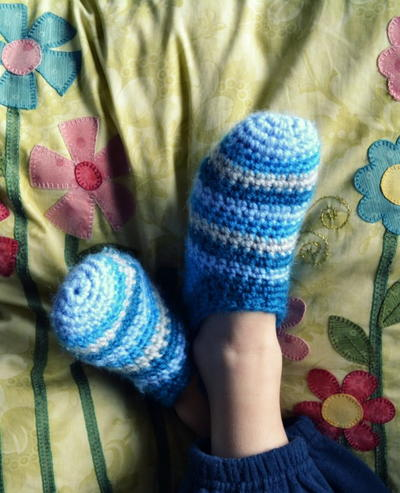 Yarn Stash Crochet Slippers