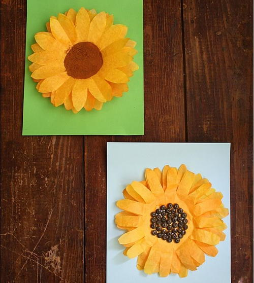 Sunny Season Coffee Filter Sunflowers