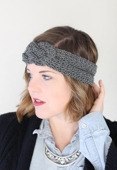 Quick Sailor Knot Crochet Headband  d9aed8de57b