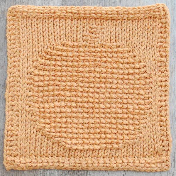 Pumpkin Tunisian Crochet Dishcloth Allfreecrochet Com