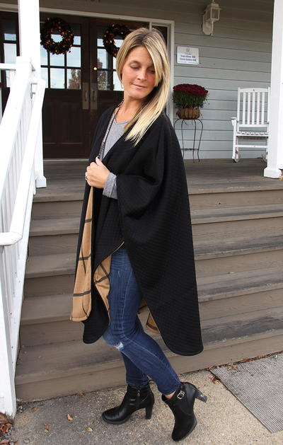 Burberry-Inspired Reversible DIY Poncho