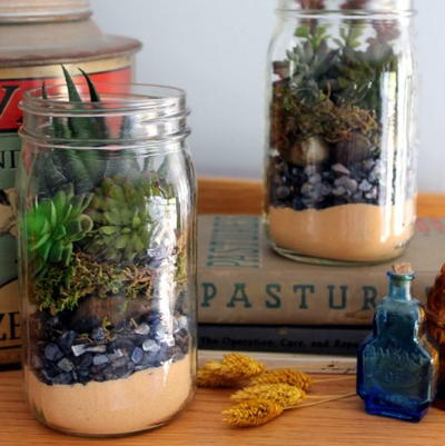 Diy Mason Jar Terrarium Diyideacenter Com