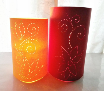 Moroccan-Style DIY Paper Luminaries