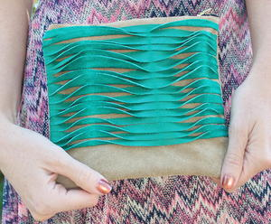 Textured Leather Clutch Tutorial