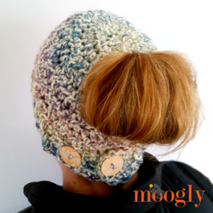 9a3ccb504b1 Pick Your Pony Crochet Bun Hat